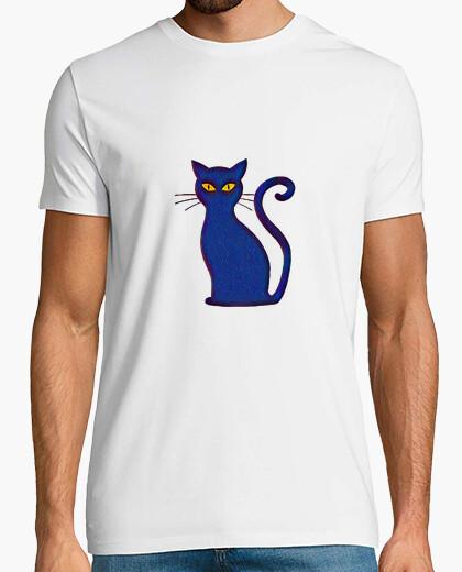 Camiseta Silueta Gato Pintado