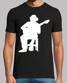 Silueta Guitarrista Flamenco blanco