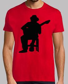 Silueta Guitarrista Flamenco negro