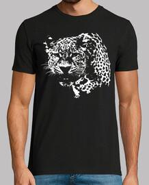 Silueta Sombra Leopardo Blanco