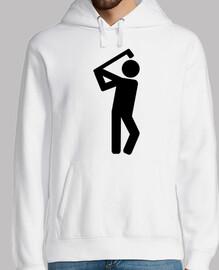 símbolo de jugador de golf