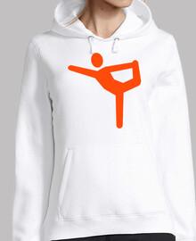 símbolo de yoga gimnasia