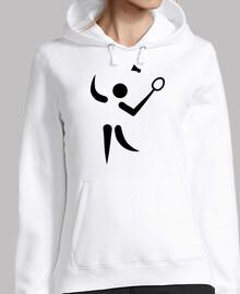 símbolo del jugador de bádminton