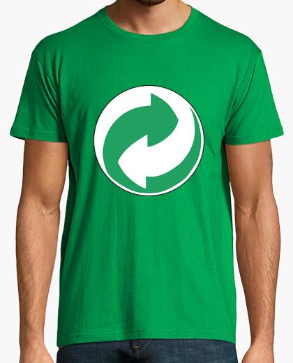 Camiseta símbolo del reciclaje