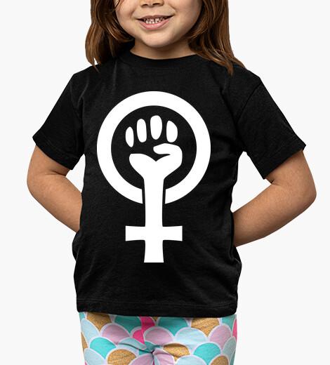 Ropa infantil Símbolo feminista (blanco)