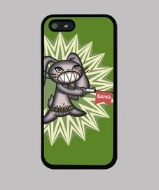 simpatica conejita loca con pistola de broma - Funda iPhone 5 / 5s, negra