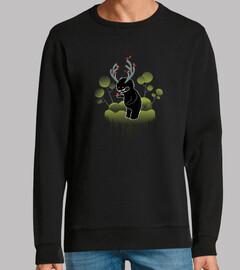 simpatico monstruo del bosque con cuern