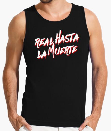 Camiseta Sin mangas Real hasta la muerte (Letras Blancas)