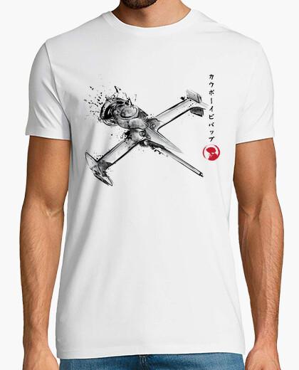 Tee-shirt singe coureur sumi-e