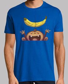 singe et banane - shirt homme