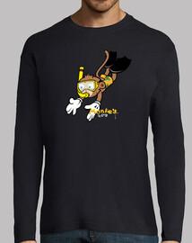 singe plongeur