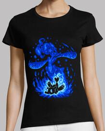 sirena de agua dentro - camisa de mujer