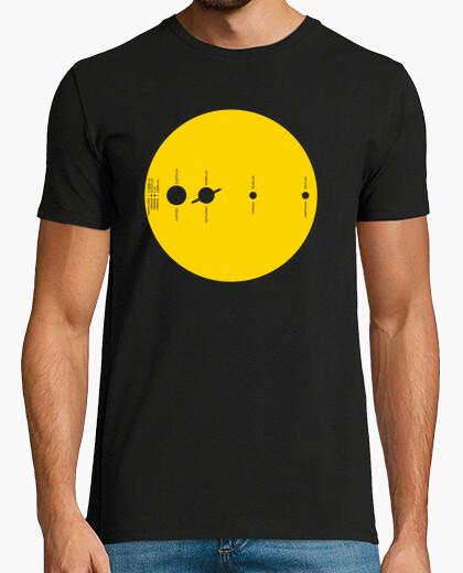 Camiseta Sistema Solar Amarillo