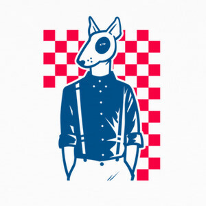 T-shirt ska fan bull terrier