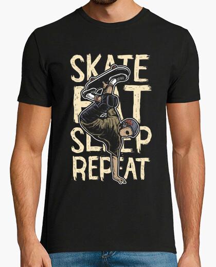 Camiseta Skate Eat Sleep Repeat