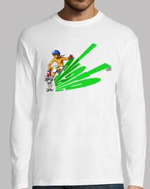 skate green skateboard