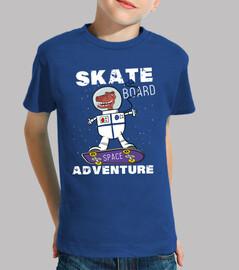 skateboard drôle d'astronaute de dinosaure