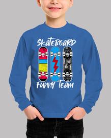 skateboard funny team kids clothing