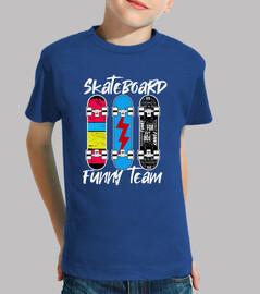 skateboard funny team vêtements pour enfants