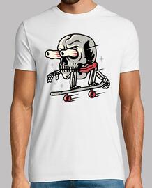 skateboard teschio