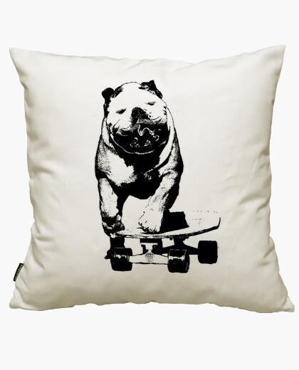 Skateboarder dog cushion cover