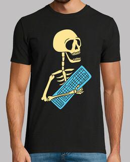 Skelett mit technischem kumpel o