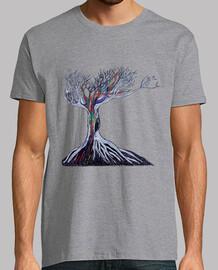 sketched dead tree