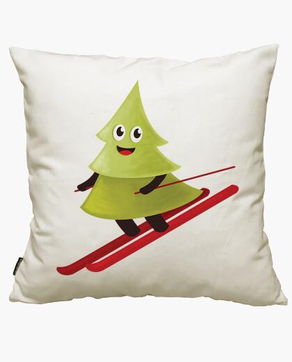 Funda cojín Skiing Happy Pine Tree