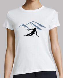 Skiing mountains