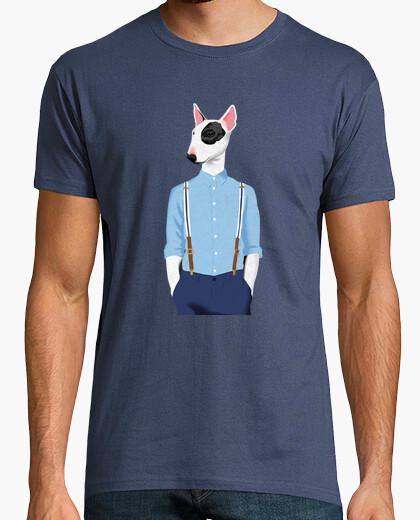 T-shirt skinhead bull terrier blu / grigio