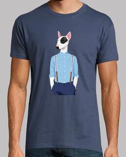 skinhead bull terrier blu / grigio