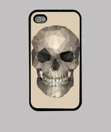 skull - iphone 4 nero