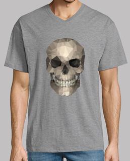 skull - man, short sleeve, collar