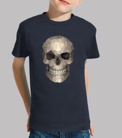 skull - tee shirt manica corta bambino, blu marino