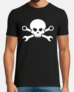Skull and bones - pirate screw 1 (bla