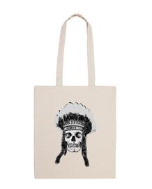 Skull and indian headdress
