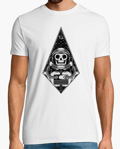T-shirt skull astronauta nero work tattoo...