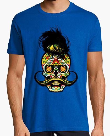 T-shirt skull barbuto skull hipster messicano