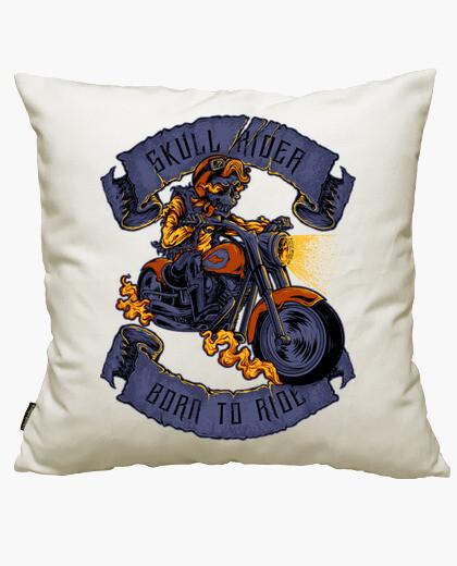 Skull biker cushion cover