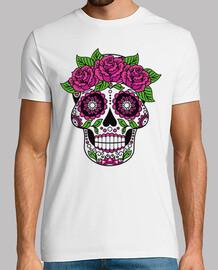 skull catrina flowers color