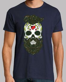 skull catrina hipster color