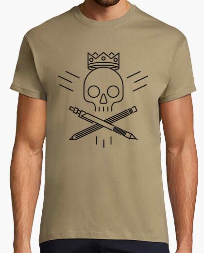T-shirt skull design nero