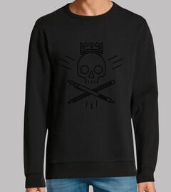 skull di logo nero