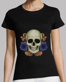 skull e flowers