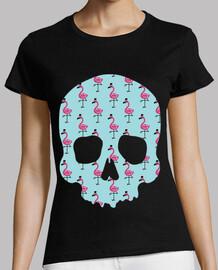 skull flamingos