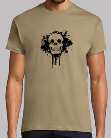 Skull Grunge , maglia manica corta militare