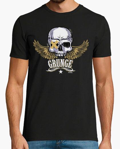 Tee-shirt skull grunge_chn