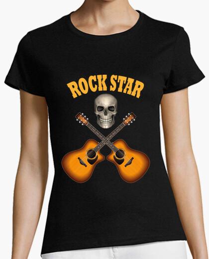 Skull guitar rock star t-shirt