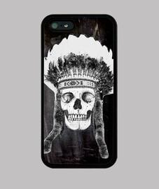 Skull indian - black