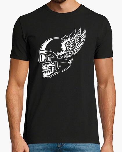 T-shirt skull moto